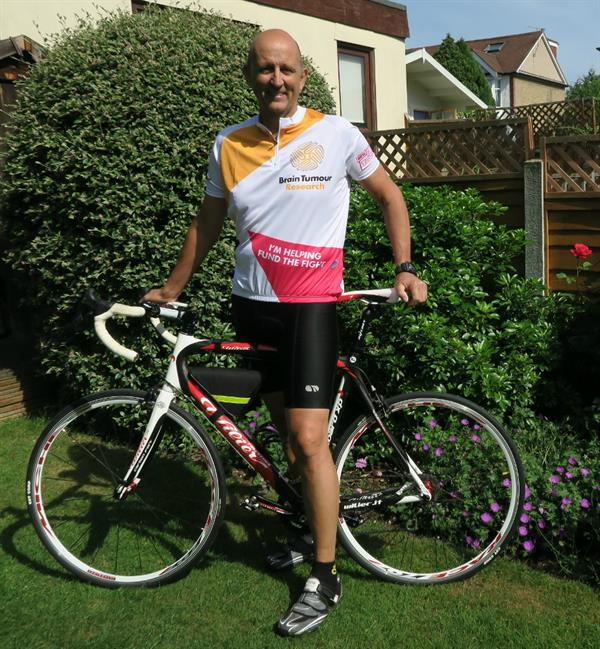 Gruelling 100-mile cycle will help fund research into brain tumours