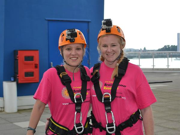 Hampshire residents take on abseil challenge to find a cure for brain tumours