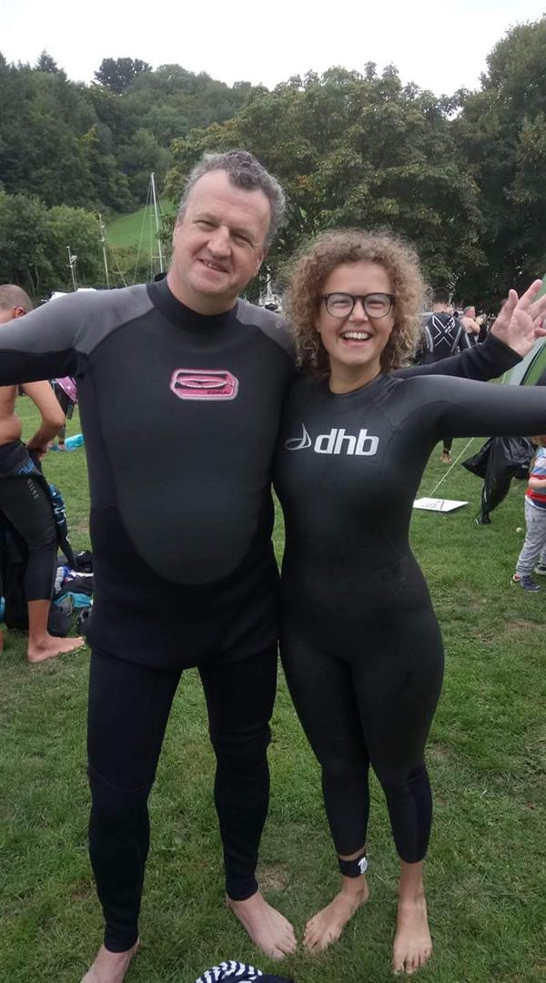 Friend's brain tumour death inspires swimming challenge