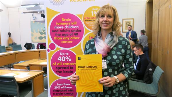 Widow at Westminster as MPs hear of brain tumour burden