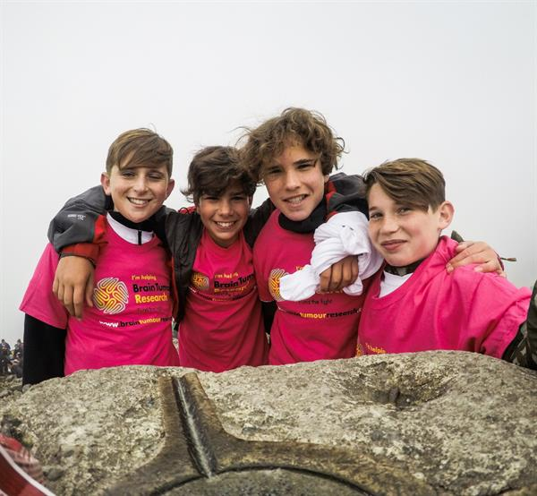 Schoolboys took on Ben Nevis in support of Brain Tumour Research