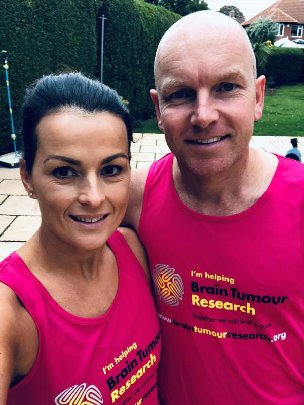 Friend's brain tumour diagnosis inspires marathon challenge