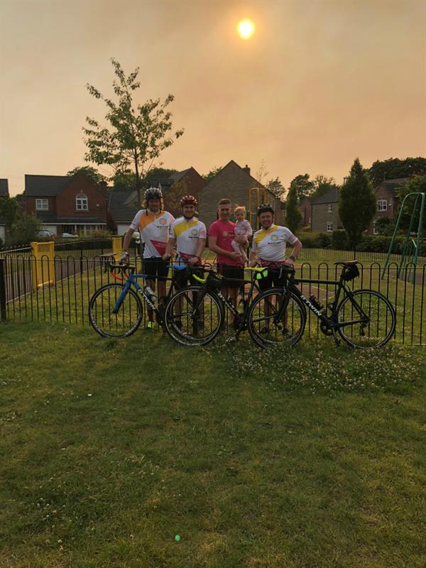 "Five ""portly blokes"" taken on 120 mile charity cycle after friend diagnosed with brain tumour"