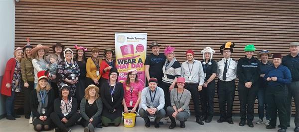 Police officers get their Hats on for Brain Tumour Research!
