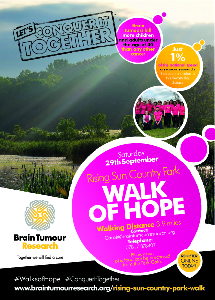 Take a walk on the Tyneside for the Brain Tumour Research charity