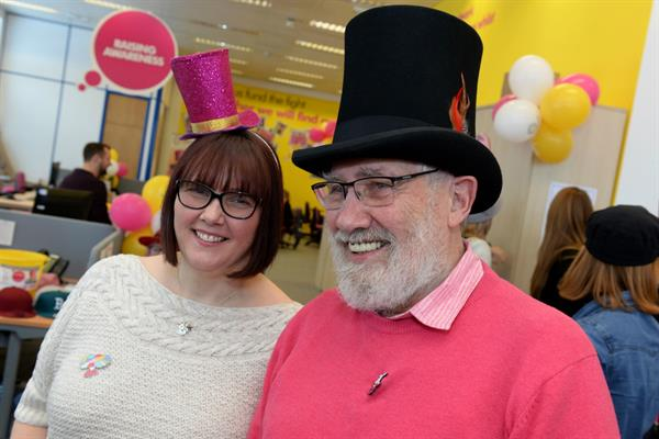 Catrin gets her hat on for Brain Tumour Research!