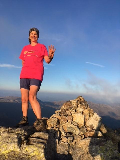 Woman defies broken wrist and completes Four Peaks Challenge
