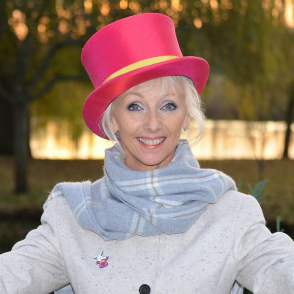 Debbie McGee gets her hat on for Brain Tumour Research!
