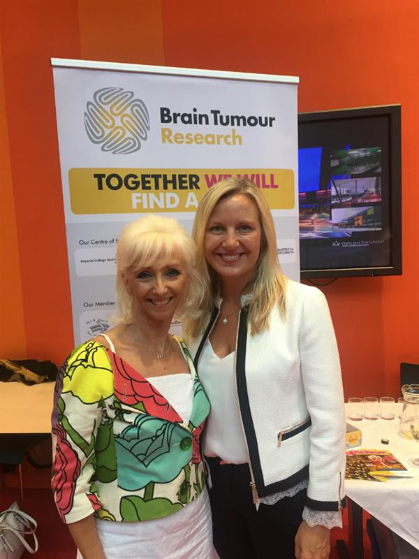 Sister of brain tumour patient meets scientists working to find a cure