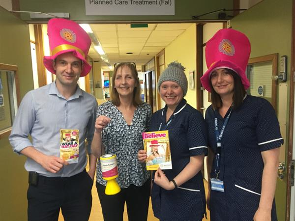Derriford's doctors and nurses get their Hats on for Brain Tumour Research!
