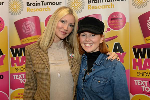 Daughter gets her hat on for Brain Tumour Research – and meets model and brain tumour survivor Caprice