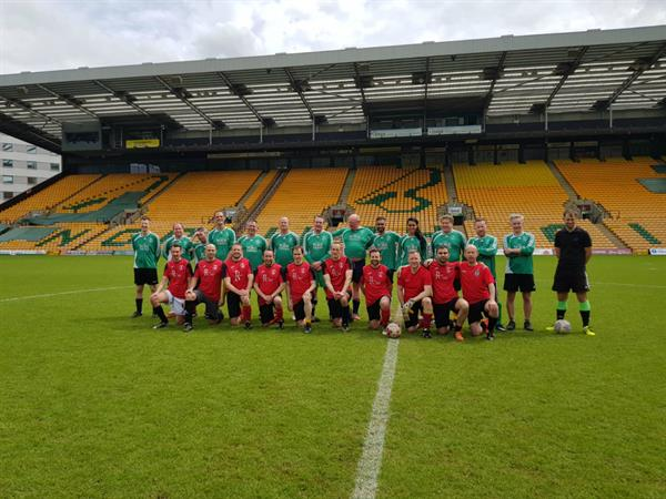 Norwich City FC fan is remembered by friends and family in charity football match