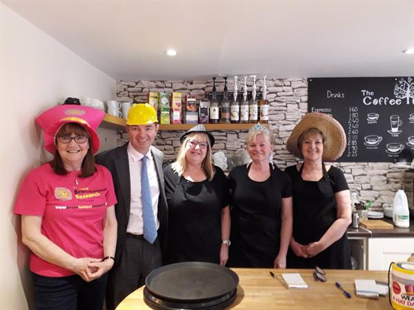 Wylam wears a hat for Brain Tumour Research