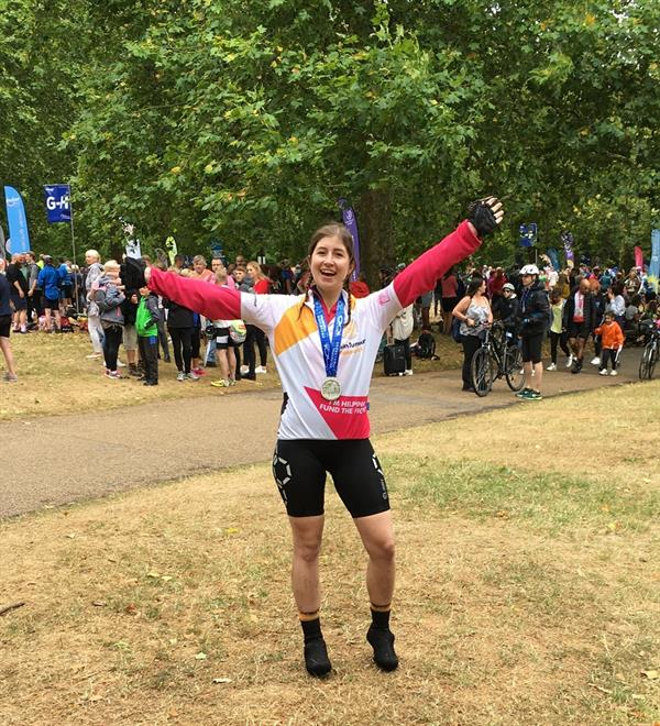 Student cycles 100 miles for the Brain Tumour Research charity