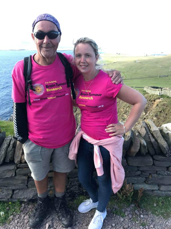Father and daughter's Shetland Island trek funds research into brain tumours