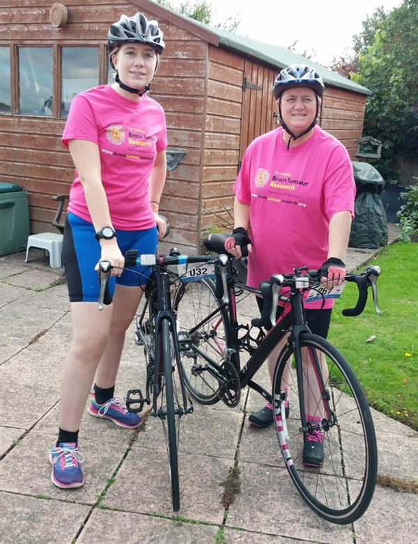 Mother and daughter take on London to Brighton cycle to help find a cure for brain tumours
