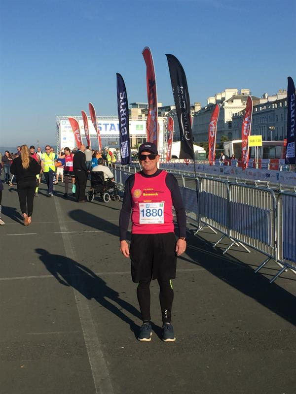 Determined dad defies hip condition to complete Plymouth Half Marathon