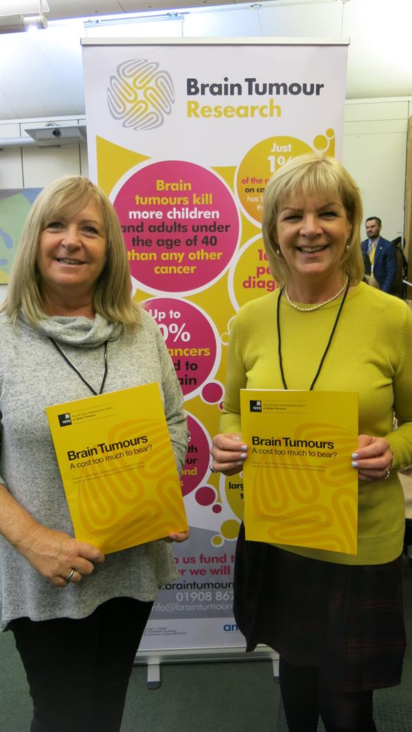 Campaigning mum and aunt at Westminster as MPs hear of unbearable burden of brain tumours