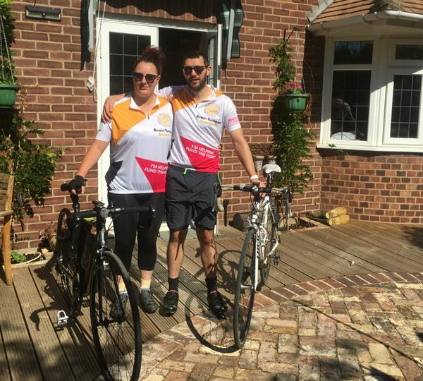 Ashford couple set to ride 100 miles for brain tumour cure