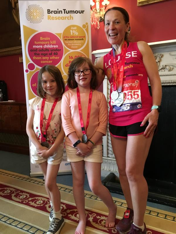 Mum dedicates marathon to daughter battling brain tumour