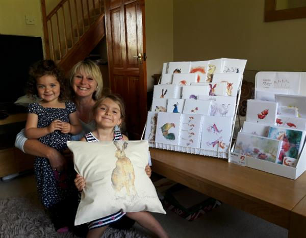 Grandma's art paints brighter future for brain tumour patients