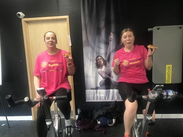 Buckingham fundraisers pedal for research into brain tumours