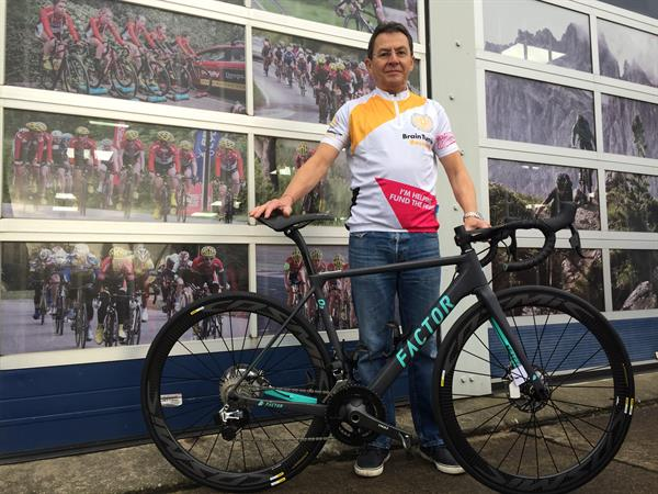 UK cycle champ launches national fundraiser for Brain Tumour Research