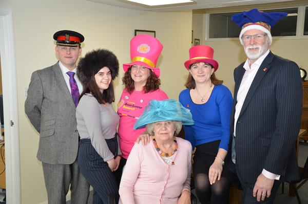Loughborough MP joins campaigners for Wear a Hat Day