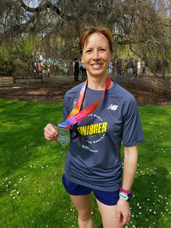 Rode Heath woman runs London Marathon to help scientists find a cure