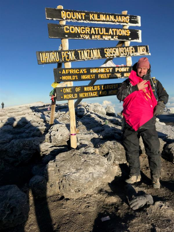 Businessman reaches grand heights for Brain Tumour Research