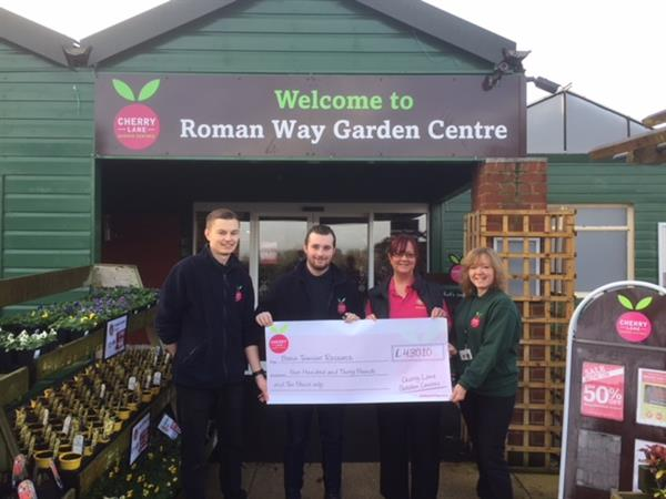 Garden Centre raises hundreds for Brain Tumour Research