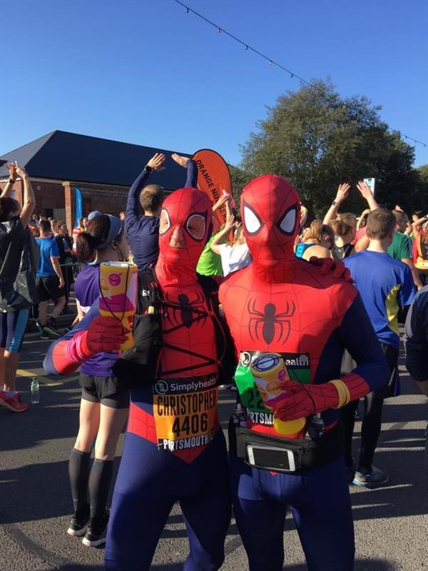 Superhero father and son's epic run for research into brain tumours