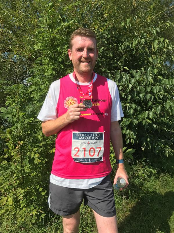 Losing dad to brain tumour inspired marathon challenge