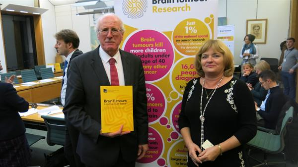 Milton Keynes charity at Westminster as MPs hear of unbearable brain tumour burden