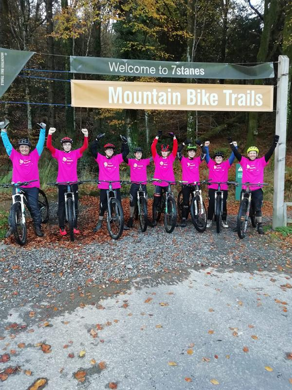 School raises more than £1,000 for charity through  mountain bike challenge