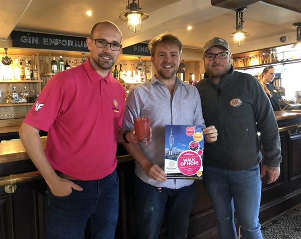 Pub raises the bar to support charity's Walk of Hope campaign