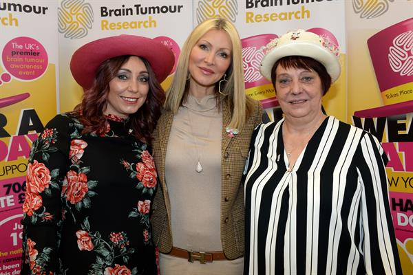 Mum and daughter get their hats on for Brain Tumour Research – and meet model and brain tumour survivor Caprice