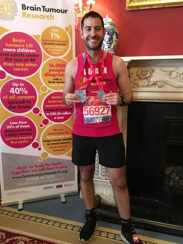 Tonbridge man completes London Marathon after family's tragic loss