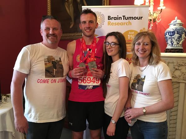 Inspirational student with brain tumour runs London Marathon to help scientists find a cure