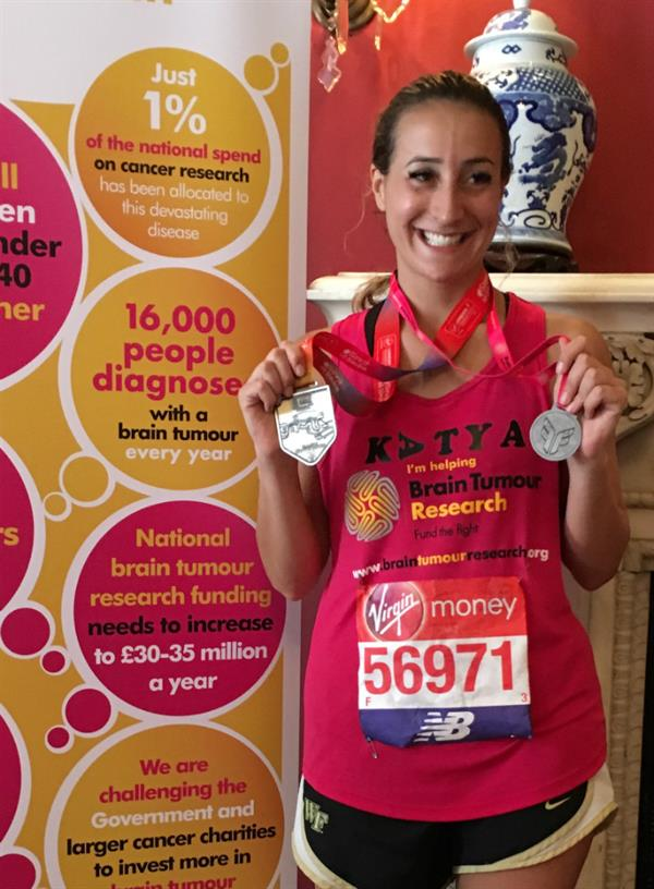 """Proudest achievement"" – med student completes London Marathon in memory of father lost to brain tumour"