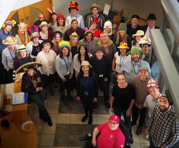 Building Society goes hatty for Brain Tumour Research
