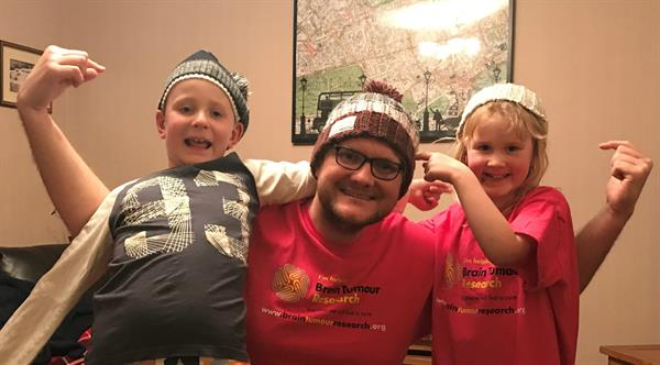 Son gets his hat on for Brain Tumour Research in memory of mum