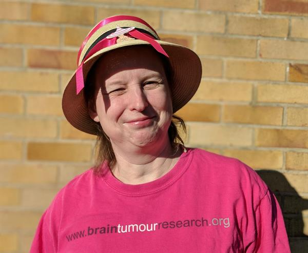 Librarian gets her hat on for Brain Tumour Research in memory of husband