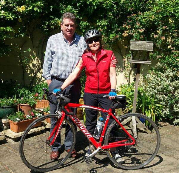 Wimbledon couple take on French cycling challenge to help find a cure for brain tumours