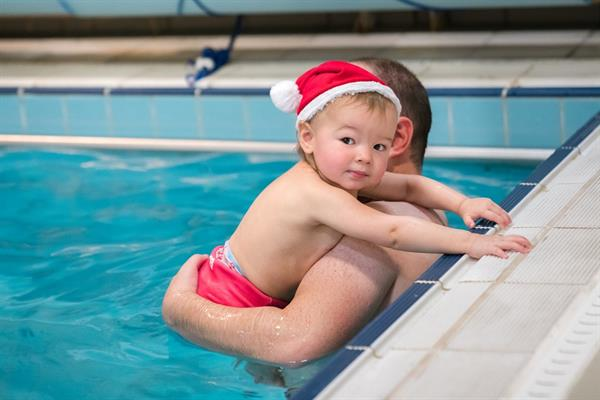 Santa babies make a splash for Brain Tumour Research