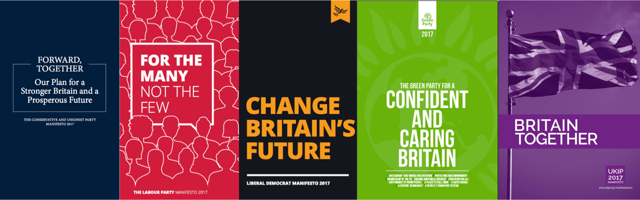 Covers of General Election Manifestos 2017