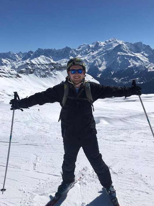 Neil skiing