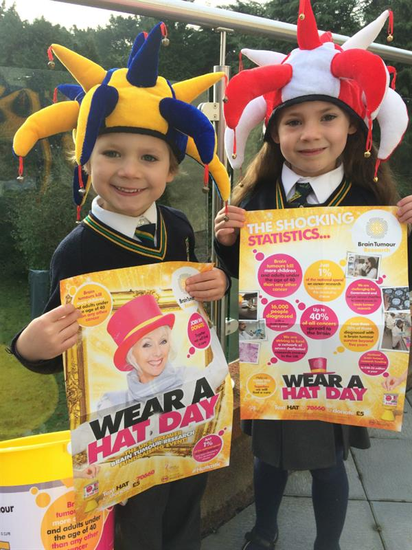 Hats the way to do it! Schools show their support for Wear A Hat Day