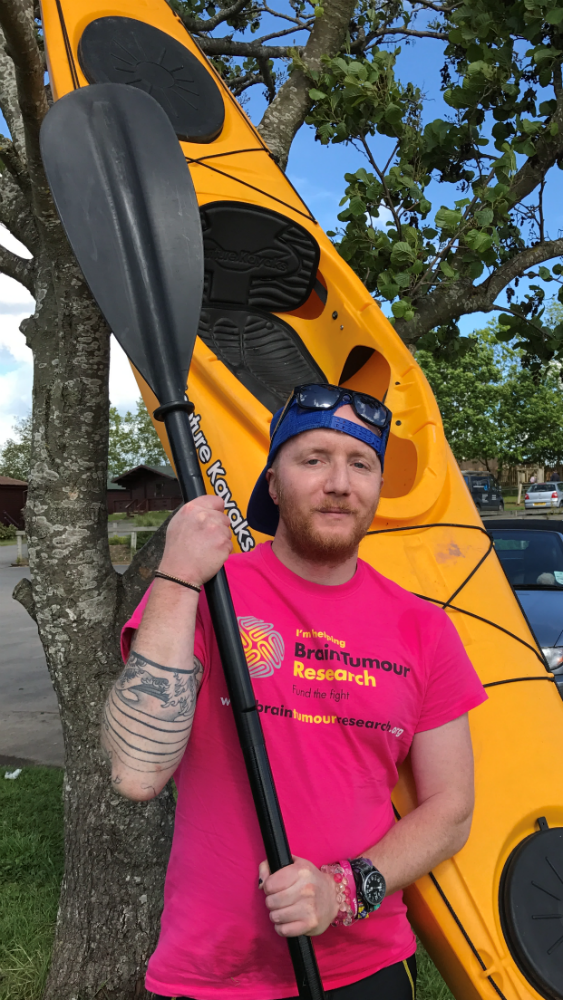 Brain tumour patient on 100th cycle of chemo therapy  to kayak 100 miles.  Wye 100 - Wye Not?!