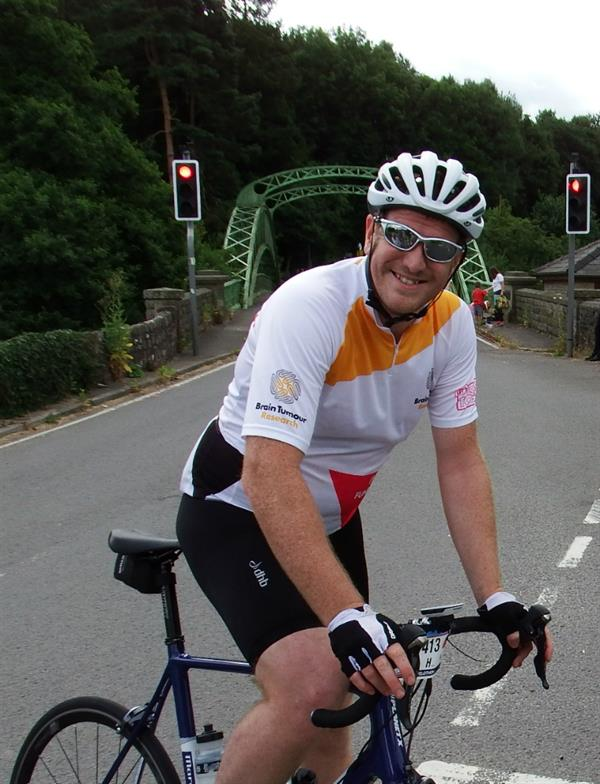 Brother-in-law takes on 100 mile cycle challenge to help scientists find a cure for brain tumours